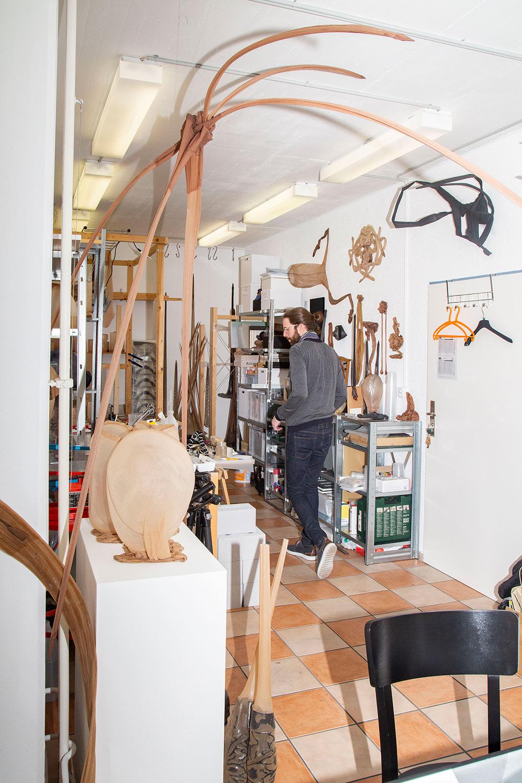 Fabian Matz in seinem Atelier