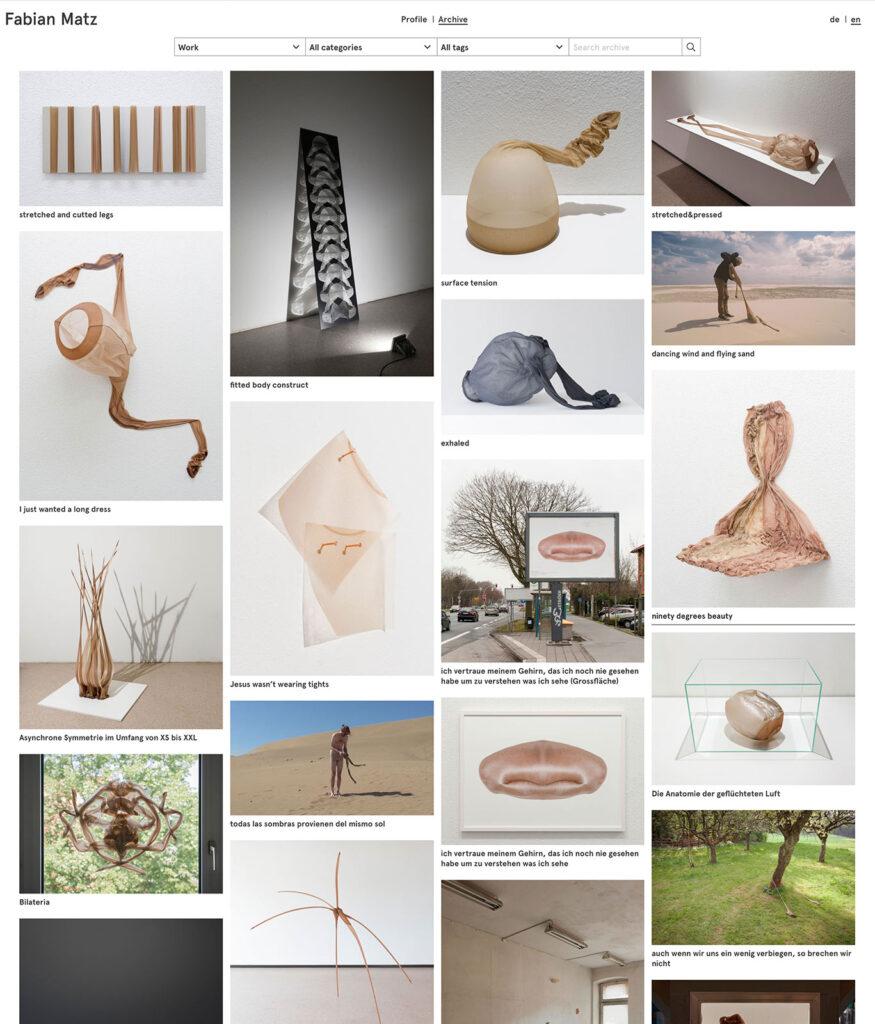 Fabian Matz kleio Werkverzeichnis screenshot der Website